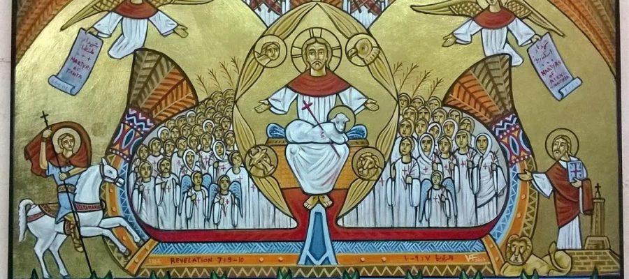 Les martyrs du Dimanche des Rameaux dans une icône
